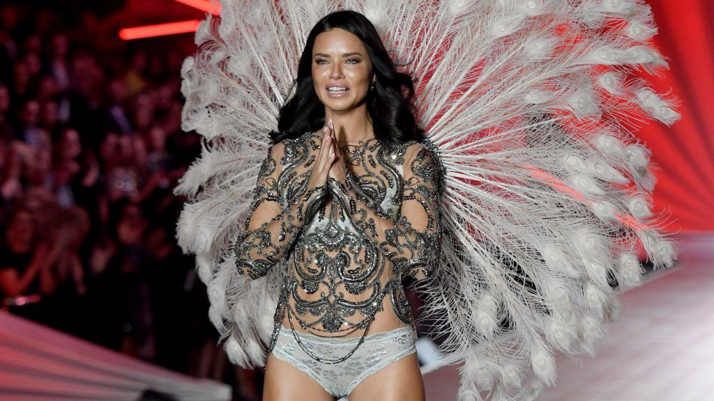 NEW YORK, NY - NOVEMBER 08:  Adriana Lima walks the runway during the 2018 Victoria's Secret Fashion Show at Pier 94 on November 8, 2018 in New York City.  (Photo by Axelle/Bauer-Griffin/FilmMagic)