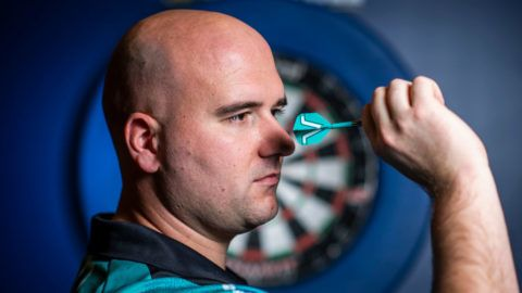LONDON, ENGLAND - NOVEMBER 26: World Champion Rob Cross poses for a photo during World Darts Championship a Photocall ahead of the 2018/2019 William Hill World Darts Championship on November 26, 2018 in London, England. (Photo by Justin Setterfield/Getty Images)