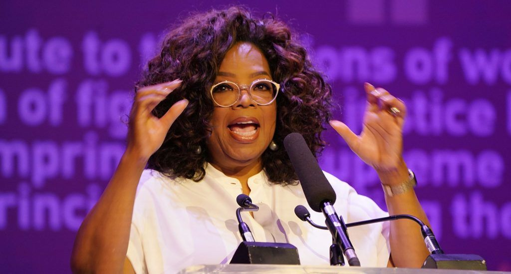 JOHANNESBURG, SOUTH AFRICA - NOVEMBER 29:  Media personality and activist Oprah Winfrey speaks during The Dignity of Women Conversation at The University of Johannesburg on November 29, 2018 in Johannesburg, South Africa.  (Photo by J. Countess/Getty Images)