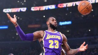 LOS ANGELES, CA - DECEMBER 05:  LeBron James #23 of the Los Angeles Lakers has the ball knocked away during the first half against the San Antonio Spurs at Staples Center on December 5, 2018 in Los Angeles, California.  NOTE TO USER: User expressly acknowledges and agrees that, by downloading and or using this photograph, User is consenting to the terms and conditions of the Getty Images License Agreement.  (Photo by Harry How/Getty Images)