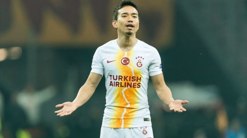 Yuto Nagatomo of Galatasaray SK during the UEFA Champions League group D match between Galatasaray AS and FC Porto at Ali Sami Yen Spor Kompleksi on December 11, 2018 in Istanbul, Turkey.(Photo by VI Images via Getty Images)