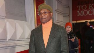 """NEW YORK, NY - DECEMBER 13:  Samuel L Jackson poses at the opening night of the hit play """"To Kill a Mockingbird"""" on Broadway at The Shubert Theatre on December 13, 2018 in New York City.  (Photo by Bruce Glikas/Bruce Glikas/FilmMagic)"""