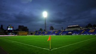SOFIA, BULGARIA - MAY 08: A general view of the stadium before the Bulgarian A League match between PFC Levski Sofia and PFC Litex Lovech at Georgi Asparuhov stadium on May 08, 2011 in Sofia, Bulgaria.  (Photo by Nikolay Doychinov/EuroFootball/Getty Images)
