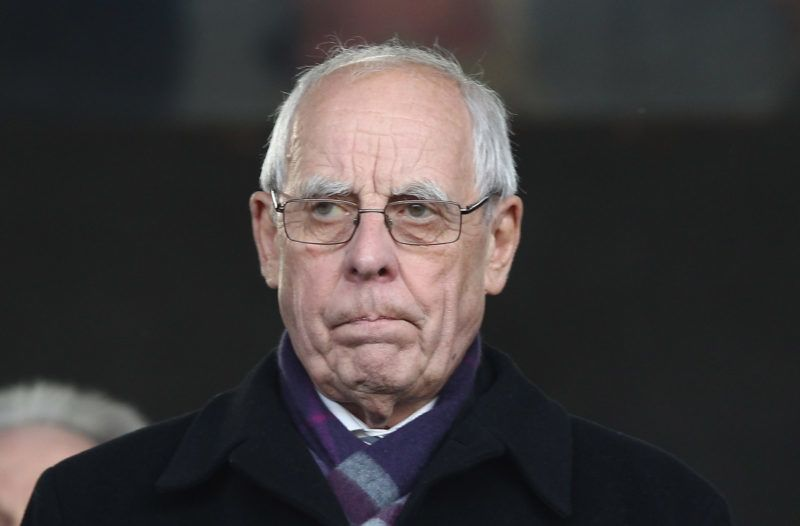 LONDON, ENGLAND - FEBRUARY 11:  Football Association conucillor Peter Coates looks on during the Barclays Premier League match between Fulham and Stoke City at Craven Cottage on February 11, 2012 in London, England.  (Photo by Ian Walton/Getty Images)