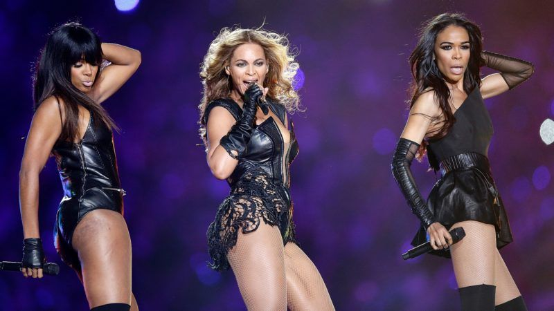NEW ORLEANS, LA - FEBRUARY 03:  Kelly Rowland, Beyonce and Michelle Williams perform during the Pepsi Super Bowl XLVII Halftime Show at the Mercedes-Benz Superdome on February 3, 2013 in New Orleans, Louisiana.  (Photo by Ezra Shaw/Getty Images)