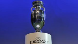 GENEVA, SWITZERLAND - SEPTEMBER 19:  The Henri Delaunay trophy is displayed at the UEFA EURO 2020 Host Cities & Final announcement ceremony held at Espace Hippomene on September 19, 2014 in Geneva, Switzerland.  (Photo by Harold Cunningham/Getty Images for UEFA)