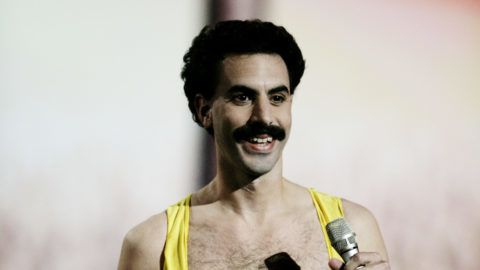 LISBON, PORTUGAL - NOVEMBER 03: Borat performs on stage at the 12th annual MTV Europe Music Awards 2005 at the Atlantic Pavilion on November 3, 2005 in Lisbon, Portugal.    (Photo by Getty Images/Getty Images for MTV)
