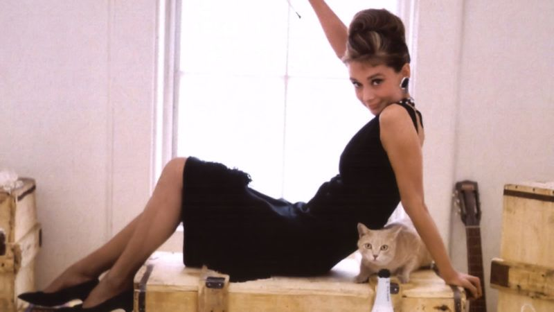 British actress Audrey Hepburn on the set of Breakfast at Tiffany's, based on the novel by Truman Capote and directed by Blake Edwards. (Photo by Paramount Pictures/Sunset Boulevard/Corbis via Getty Images)