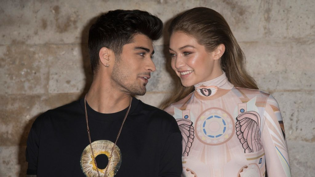 PARIS, FRANCE - OCTOBER 02:  Zayn Malik and Gigi Hadid  attend the Givenchy show as part of the Paris Fashion Week Womenswear Spring/Summer 2017 on October 2, 2016 in Paris, France.  (Photo by Dominique Charriau/WireImage)