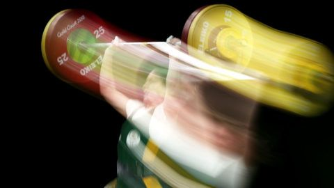 GOLD COAST, AUSTRALIA - APRIL 07:  Mona Pretorius of South Africa competes during the Women's 63kg Weightlifting Final on day three of the Gold Coast 2018 Commonwealth Games at Carrara Sports and Leisure Centre on April 7, 2018 on the Gold Coast, Australia.  (Photo by Mark Metcalfe/Getty Images)