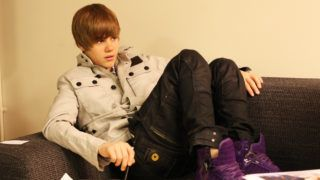 LONDON, ENGLAND - MARCH 19: Justin Bieber poses for portraits backstage at a Biz Session to promote his album My World 2.0 on March 19, 2010 in London, England. (Photo by Dave Hogan/Getty Images)