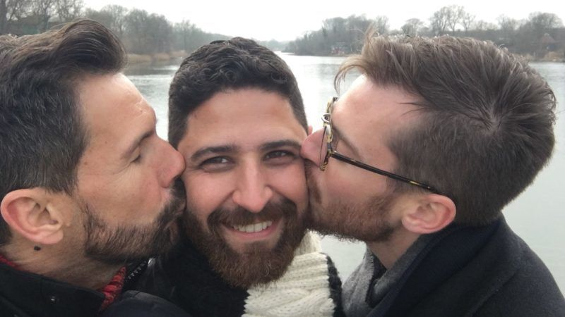 BARCELONA, SPAIN: Emerson, Edson and Sebastian (left to right). THESE MARRIED men have been happily together for over a DECADE but invited a man they met on TINDER to join their relationship to form a closed triad and say that traditional monogamy is not the only option out there. Customer care manager, Edson S (39) met his husband, English teacher, Emerson M (46) whilst they were both living in Madrid for work in 2008 after both having worked in London for several years previously, the pair fell helplessly in love and were married two years later. Over the course of their relationship, Edson and Emerson had discussed the possibility of polyamory but didn't think it would be for them. However, in October 2017, things changed for the couple after they met their now partner, research editor, Sebastian M (31), on Tinder. After a few weeks of exchanging messages, the three had their first date at an Italian restaurant in Barcelona, Spain, where they now live and instantly clicked, bonding over their shared love for yoga. At the time, Sebastian was living in Copenhagen, so it didn't cross anyone's minds that their feelings would run deeper but the distance showed that Edson and Emerson's feelings for Sebastian were much more than just sexual. After discussing how they felt about him together, Edson and Emerson asked Sebastian to join their relationship in December last year and they formed a closed triad, meaning that they don't have sex with anyone else outside of their three-way relationship. Some people criticise their relationship and wrongly assume that Edson and Emerson were having problems in their marriage before meeting Sebastian or question Sebastian as to why he would want to get involved in their marriage, but they insist that their relationship is just the same as any monogamous one, just with an extra person to share the love and attention with. mediadrumworld.com / @gayogatriad ***EXCLUSIVE***