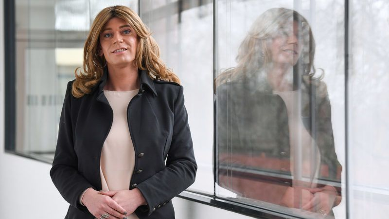 Tessa Ganserer, member of the Greens party and member of the Bavarian state parliament, and formerly known as Markus Ganserer, poses after giving a press conference in Munich, on January 14, 2019. - Ganserer is believed to be the first transgender person in Germany to hold a regional or national MP's seat, or to change their gender while in office. (Photo by Christof STACHE / AFP)