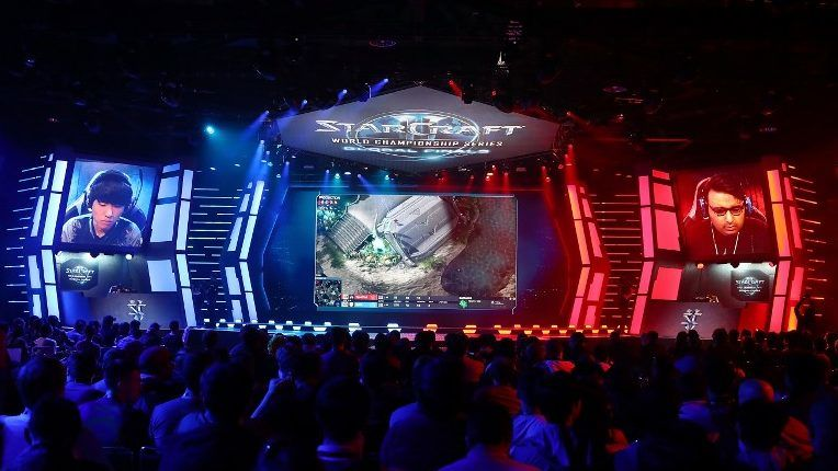 ANAHEIM, CA - November 4: Soo in action against SpeCial during the StarCraft II semifinal match at BlizzCon 2017 at Anaheim Convention Center on November 3, 2017 in Anaheim, California.   Joe Scarnici/Getty Images/AFP