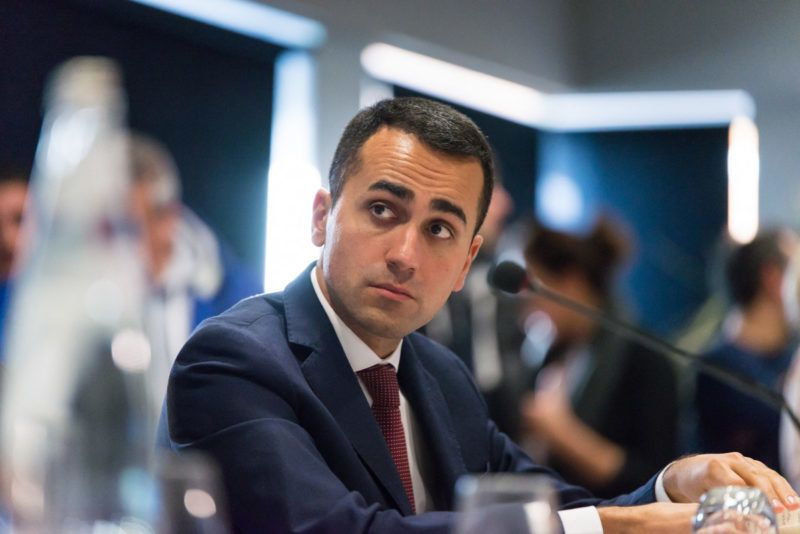 Luigi Di Maio is an Italian politician serving as Deputy Prime Minister of Italy and Minister of Economic Development, Labour and Social Policies since 1 June 2018. He previously served as Vice President of the Chamber of Deputies in the XVII Italian legislature. He is the leader of the Five Star Movement, an anti-establishment party founded by Beppe Grillo. 5-star Movement Meeting, Civitanova Marche, Italy, January 20, 2018.Luigi Di Maio est un homme politique italien, député depuis 2013, dirigeant du Mouvement 5 étoiles (M5S) depuis 2017 et ministre du Développement économique, du Travail et des Politiques sociales depuis 2018. Meeting du Mouvement 5 étoiles, Civitanova Marche, Italie, 20 janvier 2018.