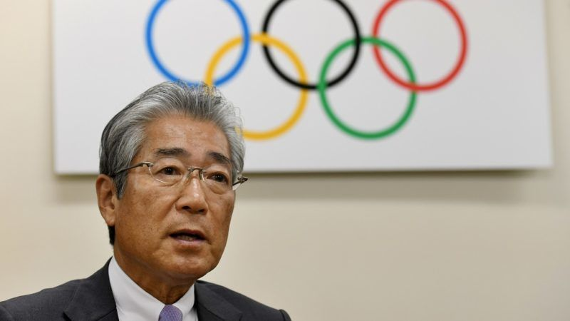 Japanese Olympic Committee president Tsunekazu Takeda speaks during an interview with AFP at his office in Tokyo on January 19, 2018. - The Japanese city of Sapporo would not need to construct a single venue in a potential bid to host the 2026 Winter Games, Japan's top Olympic official said on January 19. (Photo by Toshifumi KITAMURA / AFP)