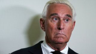 WASHINGTON, DC - DECEMBER 11: Longtime informal adviser to President Trump Roger Stone speaks to cameras outside a hearing where Google CEO Sundar Pichai testified before the House Judiciary Committee at the Rayburn House Office Building on December 11, 2018 in Washington, DC. The committee held a hearing on 'Transparency & Accountability: Examining Google and its Data Collection, Use and Filtering Practices.   Alex Wong/Getty Images/AFP