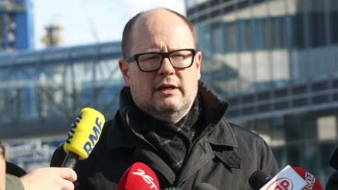 Mayor of Gdansk Pawel Adamowicz is seen in Gdansk, Poland on 1 March 2018 Oil refiner PKN Orlen signed a letter of intent with the state treasury to buy at least 53 percent of shares in Lotos, the countrys no. 2 refining company. City of Gdansk and Pomeranian voivodeship authorities protest against this deal, as it defacto means liquidation of largest in the city employer and tax payer.  (Photo by Michal Fludra/NurPhoto)