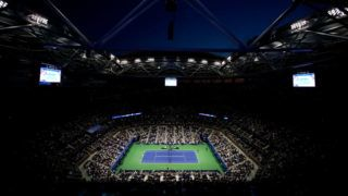 NEW YORK, NY - SEPTEMBER 03:  A general view inside Arthur Ashe stadium during the women's singles fourth round match between Maria Sharapova of Russia and Carla Suarez Nevarro of Spain on Day Eight of the 2018 US Open at the USTA Billie Jean King National Tennis Center on September 3, 2018 in the Flushing neighborhood of the Queens borough of New York City.  (Photo by Julian Finney/Getty Images)