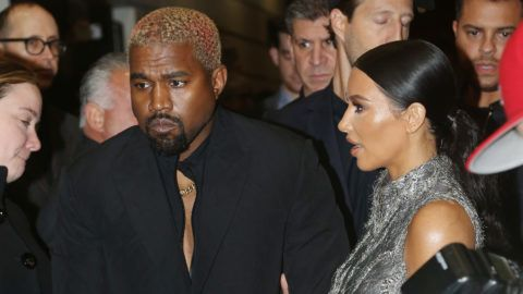 """NEW YORK, NY - DECEMBER 03:  Kanye West and Kim Kardashian West pose at the opening night of the new musical """"The Cher Show"""" on Broadway at The Neil Simon Theatre on December 3, 2018 in New York City.  (Photo by Bruce Glikas/Bruce Glikas/FilmMagic)"""