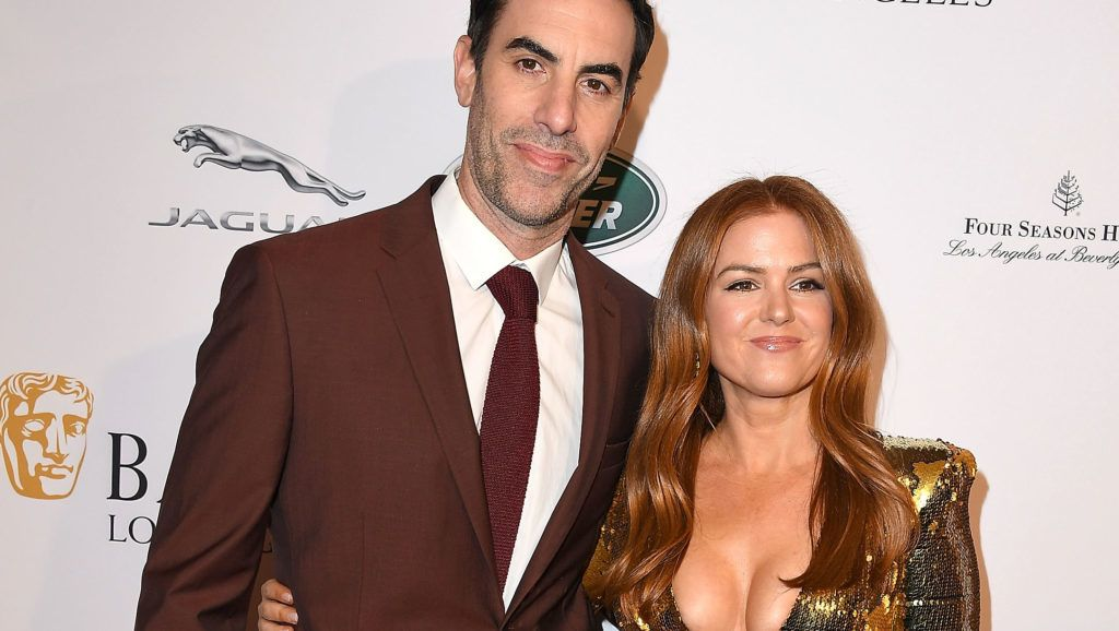 LOS ANGELES, CA - JANUARY 05:  Isla Fisher, Sacha Baron Cohen arrives at the The BAFTA Los Angeles Tea Party  at Four Seasons Hotel Los Angeles at Beverly Hills on January 5, 2019 in Los Angeles, California.  (Photo by Steve Granitz/WireImage)