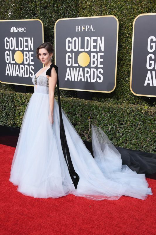 BEVERLY HILLS, CA - JANUARY 06:  Alison Brie attends the 76th Annual Golden Globe Awards at The Beverly Hilton Hotel on January 6, 2019 in Beverly Hills, California.  (Photo by Steve Granitz/WireImage)