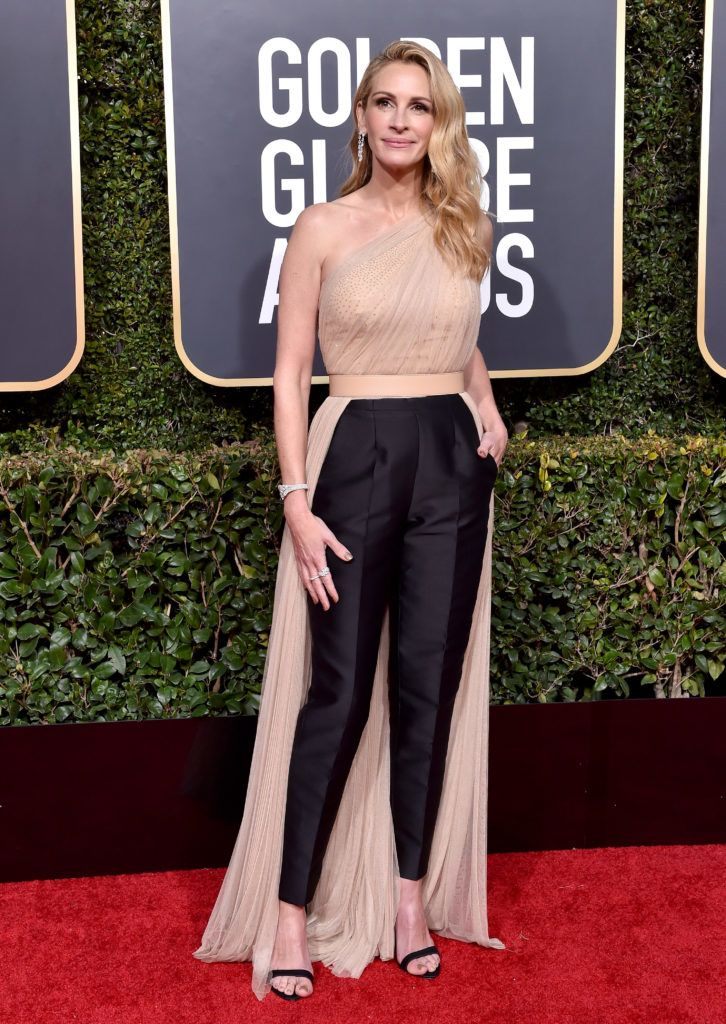 BEVERLY HILLS, CA - JANUARY 06:  Julia Roberts attends the 76th Annual Golden Globe Awards at The Beverly Hilton Hotel on January 6, 2019 in Beverly Hills, California.  (Photo by Axelle/Bauer-Griffin/FilmMagic)