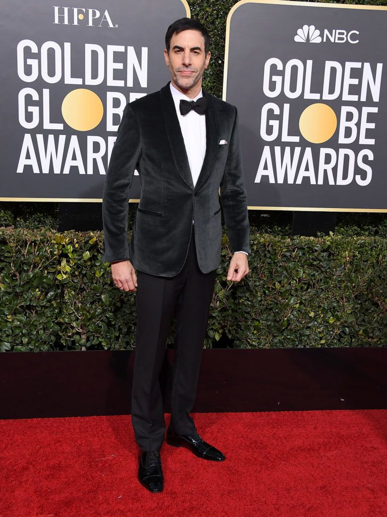 BEVERLY HILLS, CA - JANUARY 06:  Sacha Baron Cohen arrives at the 76th Annual Golden Globe Awardsat The Beverly Hilton Hotel on January 6, 2019 in Beverly Hills, California.  (Photo by Steve Granitz/WireImage)