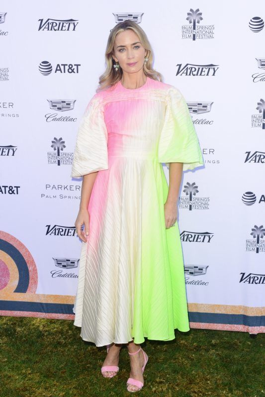 PALM SPRINGS, CALIFORNIA - JANUARY 04: Emily Blunt attends 2019 Palm Springs International Film Festival - Variety's Creative Impact Awards/10 Directors To Watch  at the Parker Palm Springs on January 04, 2019 in Palm Springs, California. (Photo by Jerod Harris/Getty Images)