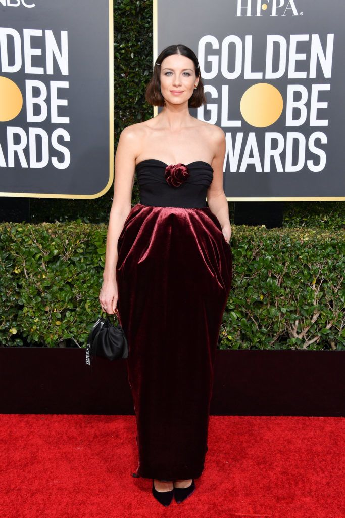 BEVERLY HILLS, CALIFORNIA - JANUARY 06: Caitriona Balfe attends the 76th Annual Golden Globe Awards held at The Beverly Hilton Hotel on January 06, 2019 in Beverly Hills, California. (Photo by George Pimentel/WireImage)