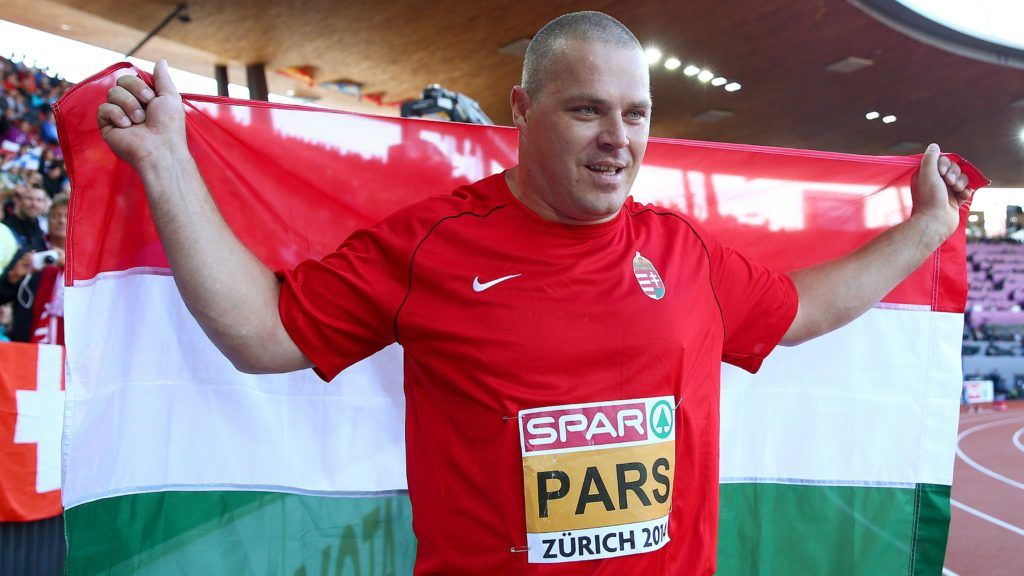 ZURICH, SWITZERLAND - AUGUST 16:  Krisztian Pars of Hungary celebrates as he wins gold in the Men's Hammer final during day five of the 22nd European Athletics Championships at Stadium Letzigrund on August 16, 2014 in Zurich, Switzerland.  (Photo by Ian Walton/Getty Images)
