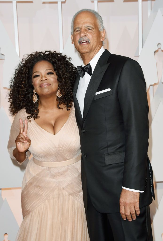 HOLLYWOOD, CA - FEBRUARY 22: Oprah Winfrey (L) and Stedman Graham attend the 87th Annual Academy Awards at Hollywood & Highland Center on February 22, 2015 in Hollywood, California.  (Photo by Jason Merritt/Getty Images)