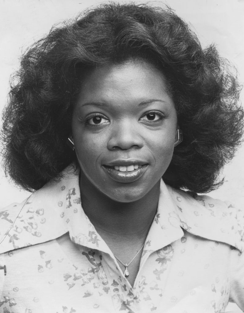 A portrait of Oprah Winfrey upon becoming co anchor of Eyewitness News on WJZ, with co host Jerry Turner, Baltimore, Maryland, June 26, 1978. (Photo by Afro American Newspapers/Gado/Getty Images)