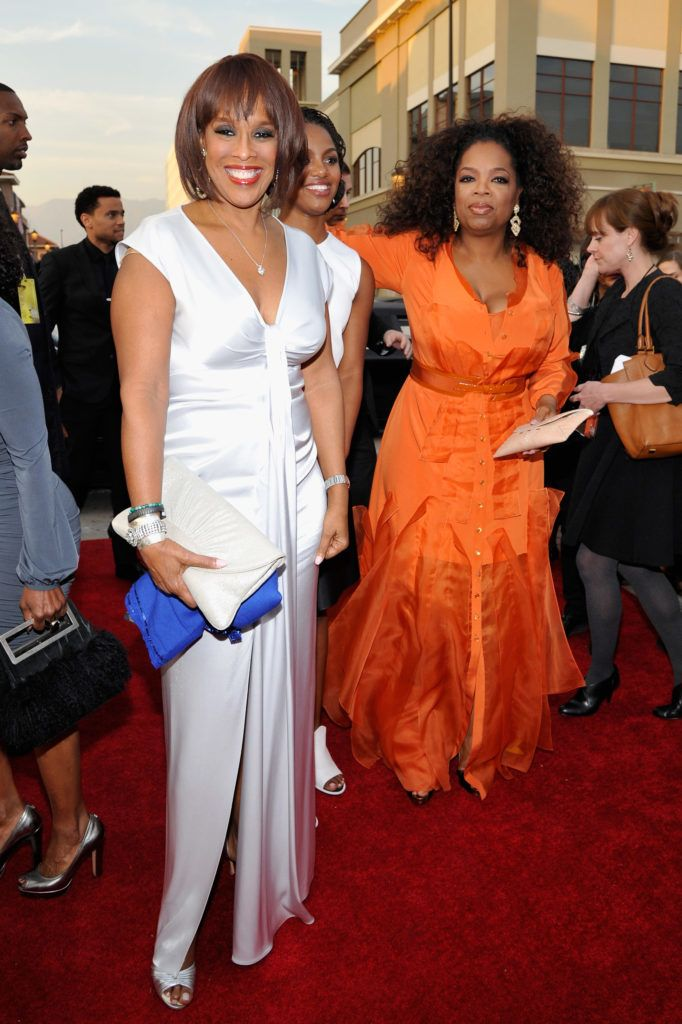 PASADENA, CA - FEBRUARY 22:  TV personalities Gayle King (L) and Oprah Winfrey attend the 45th NAACP Image Awards presented by TV One at Pasadena Civic Auditorium on February 22, 2014 in Pasadena, California.  (Photo by John Sciulli/Getty Images for NAACP Image Awards)