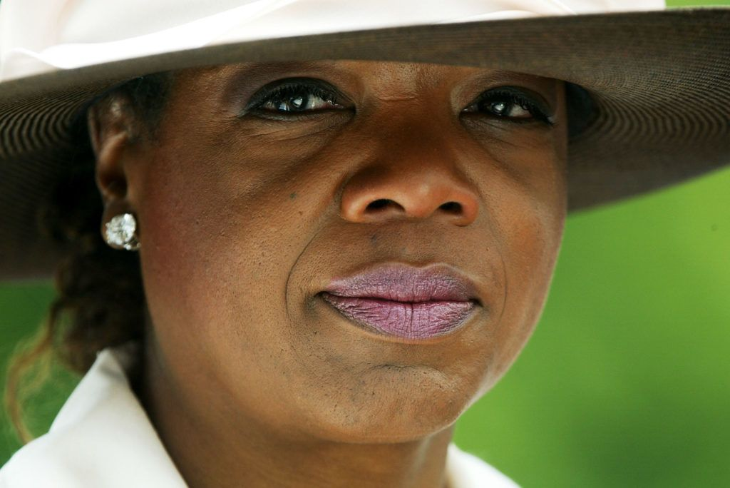 WHEATON, MD - JUNE 28:  Talk show host Oprah Winfrey is seen after attending a funeral mass for Mattie Stepanek June 28, 2004 outside the St. Catherine Laboure Catholic Church in Wheaton, Maryland. Mattie Stepanek, a best-selling poet and an advocate for victims with muscular dystrophy, died of the disease at age 13 on June 22, 2004.   (Photo by Alex Wong/Getty Images)