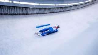 INNSBRUCK, AUSTRIA - JANUARY 28: Victoria Demchenko of Russian Federation competes in the first heat of the Women's Luge competition during the second day of  the FILWorld Championships at Olympiabobbahn Igls on January 28, 2017 in Innsbruck, Austria. (Photo by Jan Hetfleisch/Bongarts/Getty Images)