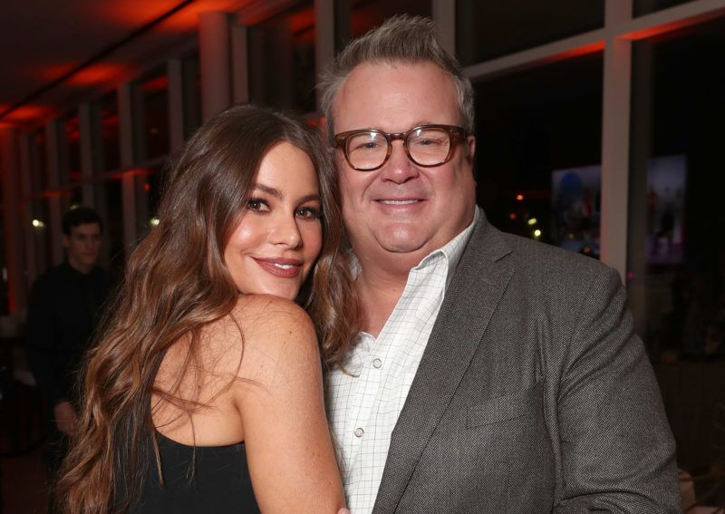 "NORTH HOLLYWOOD, CA - MAY 03:  Sofia Vergara and Eric Stonestreet attend ABC's ""Modern Family"" ATAS Event at Saban Media Center on May 3, 2017 in North Hollywood, California.  (Photo by Todd Williamson/Getty Images)"