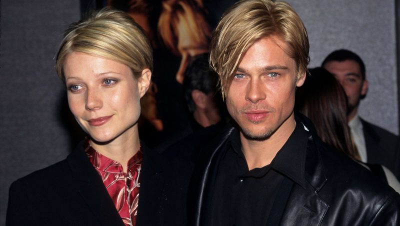 Gwyneth Paltrow and Brad Pitt (Photo by Kevin Mazur Archive/WireImage)