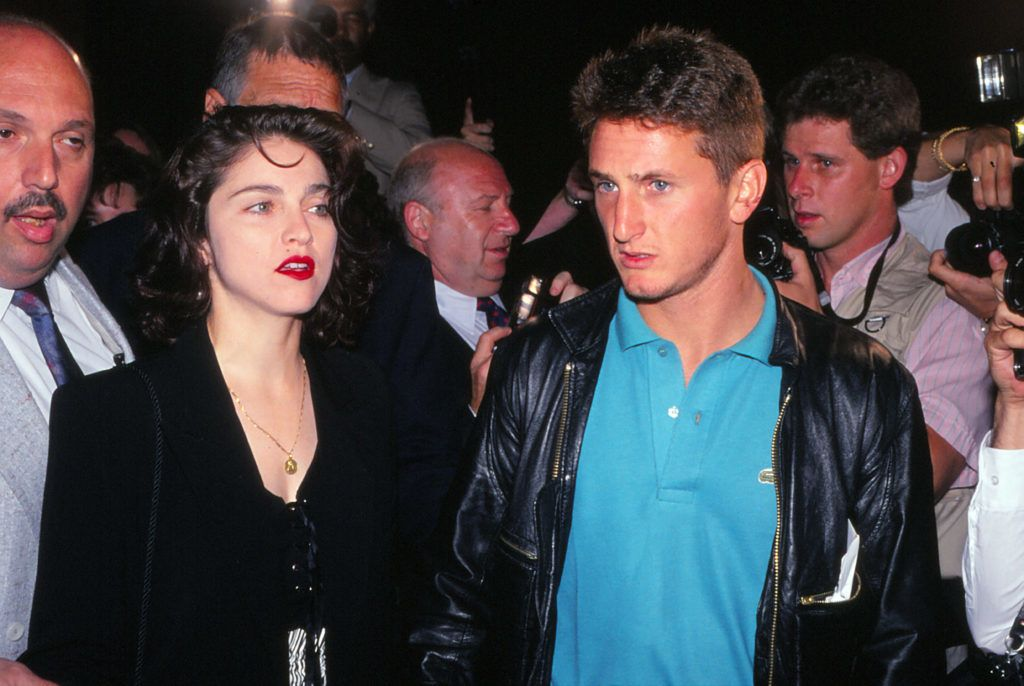 ATLANTIC CITY, NJ - JANUARY 22: Singer Madonna and Actor Sean Penn ringside at Tyson vs Holmes fight Convention Hall in Atlantic City, New Jersey January 22 1988. (Photo by Jeffrey Asher/ Getty Images)