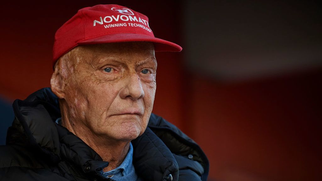 MONTMELO, SPAIN - MARCH 07:  Three-time Formula 1 champion and Mercedes F1 Niki Lauda during day two of F1 Winter Testing at Circuit de Catalunya on March 7, 2018 in Montmelo, Spain.  (Photo by Quality Sport Images/Getty Images)