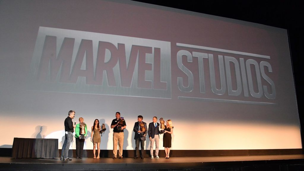 ATLANTA, GA - APRIL 26:  (L-R) Mitch Bell, Sandra Deal, Marjan Ghadrdan, Mike Dobbs, Ron Clark, and Kim Bearden onstage at Marvel Studios' Avengers: Infinity War Screening at The Fox Theatre on April 26, 2018 in Atlanta, Georgia.  (Photo by Paras Griffin/Getty Images for Avengers: Infinity War)