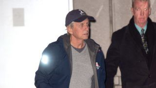 01/07/2019 EXCLUSIVE: Michael Douglas arrives at JFK Airport carrying his Golden Globe award in New York City. The 74 year old actor proudly showed off his trophy which he took home for his role in the 'Kominsky Method' in the category of 'Best Performance by an Actor in a Television Series, Musical or Comedy'.   sales@theimagedirect.com Please byline:TheImageDirect.com  *EXCLUSIVE PLEASE EMAIL sales@theimagedirect.com FOR FEES BEFORE USE January 7, 2019