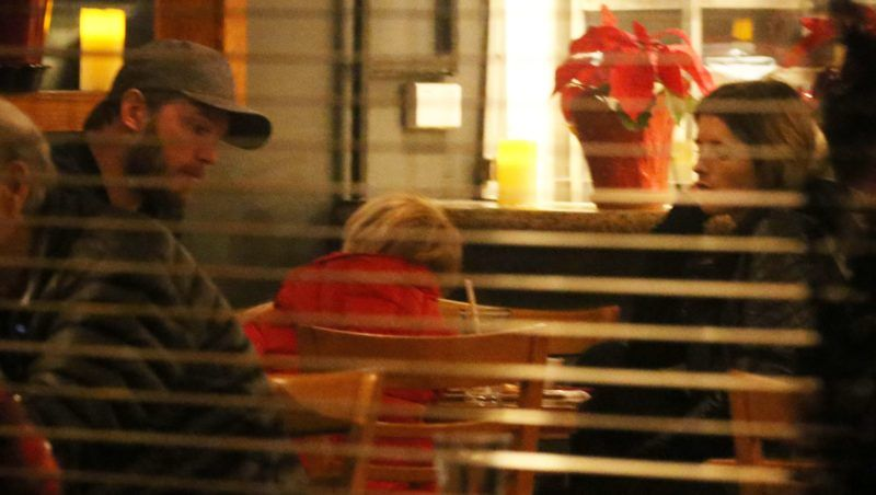 PREMIUM EXCLUSIVE Please contact X17 before any use of these exclusive photos - x17@x17agency.comJust engaged Katherine Schwarzenegger and fiance Chris Pratt at night at restaurant in Santa Monica with son Jack (mom is Anna Faris) Jan 23, 2019 X17online.com January 23, 2019