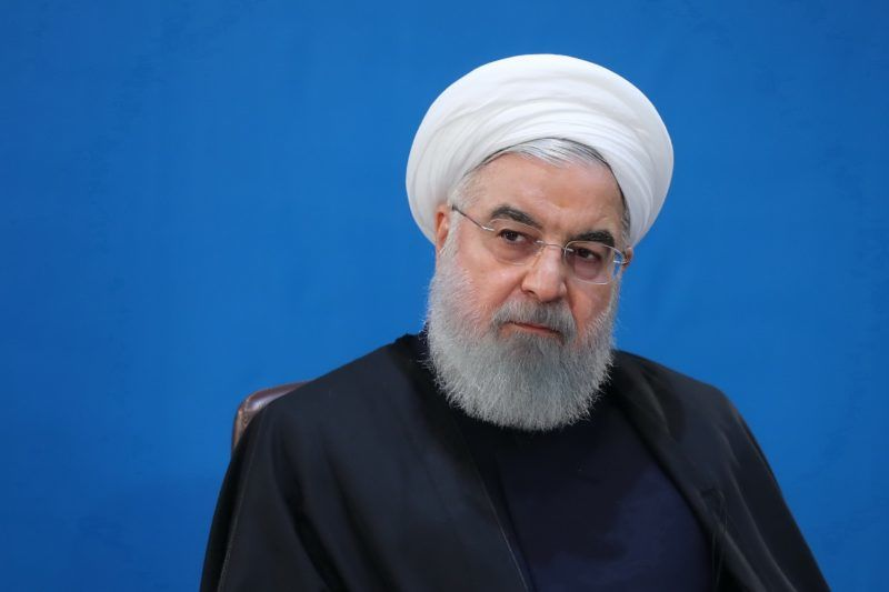 """TEHRAN, IRAN - FEBRUARY 25 : (----EDITORIAL USE ONLY – MANDATORY CREDIT - """"IRANIAN PRESIDENCY / HANDOUT"""" - NO MARKETING NO ADVERTISING CAMPAIGNS - DISTRIBUTED AS A SERVICE TO CLIENTS----) Iranian President Hassan Rouhani attends a meeting with senior executives of Ministry of Labor in Tehran, Iran on February 25, 2019. Unemployment and economy of the country were evaluated at the meeting. Iranian Presidency / Handout / Anadolu Agency"""
