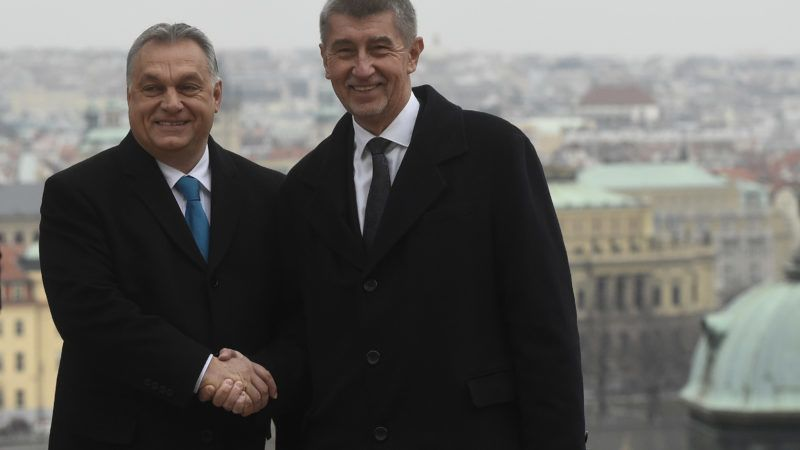 Czech Prime Minister Andrej Babis (R) shakes hands with his Hungarian counterpart Viktor Orban prior their meeting on November 30, 2018 in Prague. (Photo by Michal Cizek / AFP)