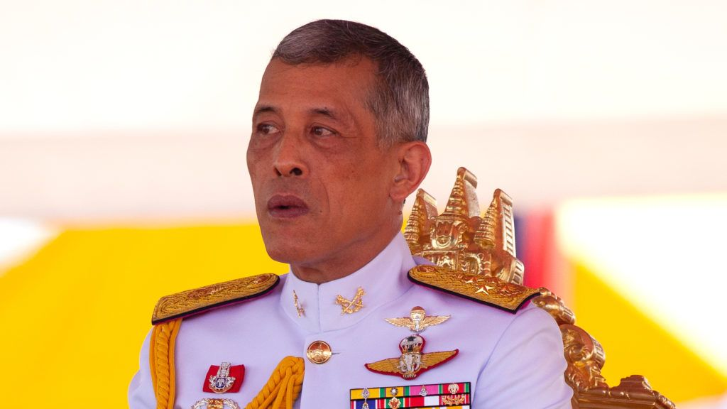 """(FILES) This file photo taken on May 14, 2018 shows Thai King Maha Vajiralongkorn presiding over the annual royal ploughing ceremony outside Bangkok's royal palace. - Thailand's King Maha Vajiralongkorn late February 8, 2019 said a move by a political party to make his sister Princess Ubolratana prime minister if they triumphed in upcoming elections was """"inappropriate and unconstitutional"""". (Photo by Panupong CHANGCHAI / THAI NEWS PIX / AFP)"""