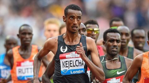 Yomif Kejelcha of Ethiopia in the Men's 5000m during the Muller Anniversary Games, Athletics IAAF Diamond League London 2018 on 21 July 2018 at the London Stadium in London, England - Photo Martin Cole / ProSportsImages / DPPI