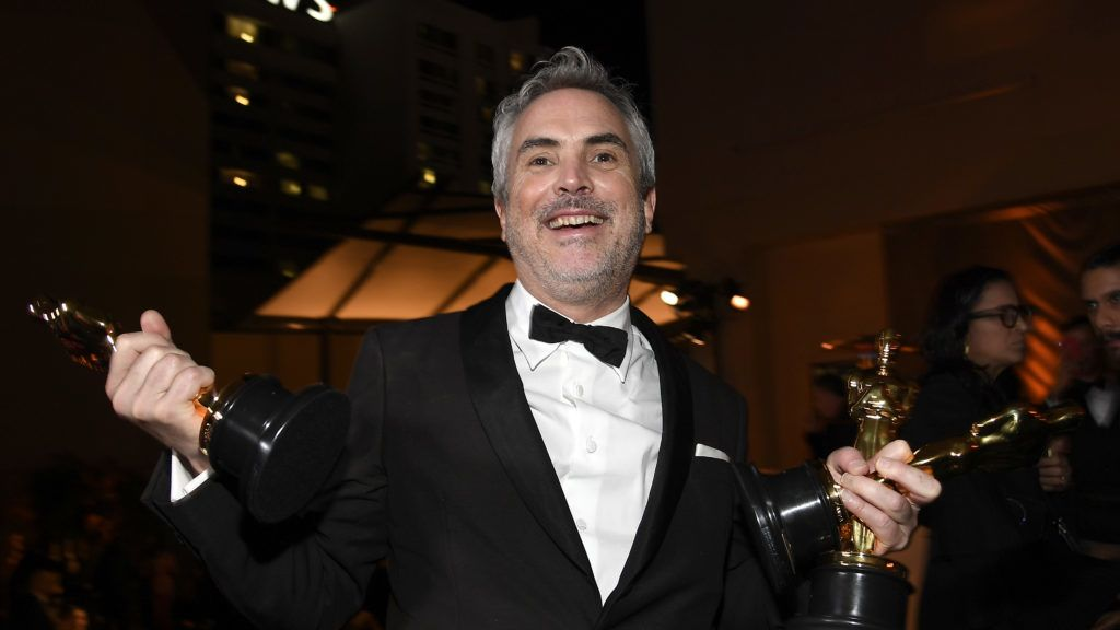 HOLLYWOOD, CALIFORNIA - FEBRUARY 24: Alfonso Cuaron, winner of the the Foreign Language Film, Cinematography, and Directing awards for 'Roma,' attends the 91st Annual Academy Awards Governors Ball at Hollywood and Highland on February 24, 2019 in Hollywood, California. (Photo by Kevork Djansezian/Getty Images)