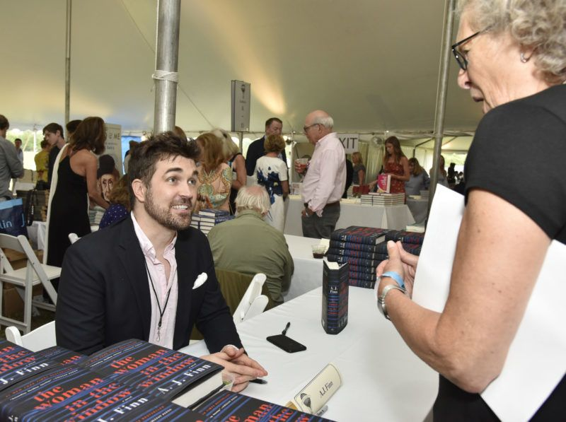 EAST HAMPTON, NY - AUGUST 11:  A.J. Finn attends Authors Night At East Hampton Library on August 11, 2018 in East Hampton, New York.  (Photo by Eugene Gologursky/Getty Images for East Hampton Library)