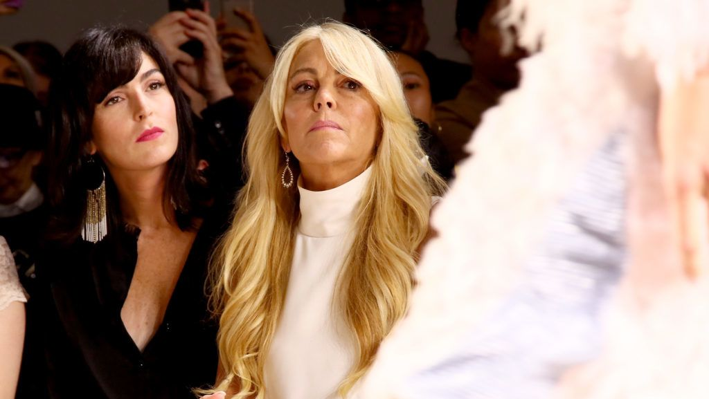 NEW YORK, NY - SEPTEMBER 07: Ali Lohan and Dina Lohan attend the Vivienne Hu front row during New York Fashion Week: The Shows at Gallery II at Spring Studios on September 7, 2018 in New York City.  (Photo by Astrid Stawiarz/Getty Images for Vivienne Hu)